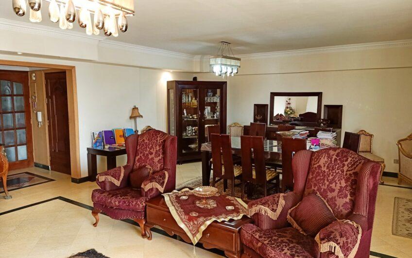 شقة للبيع 250 متر بأفضل فيو وموقع امام حديقة الطفل بحرى غربى وحصة جراج