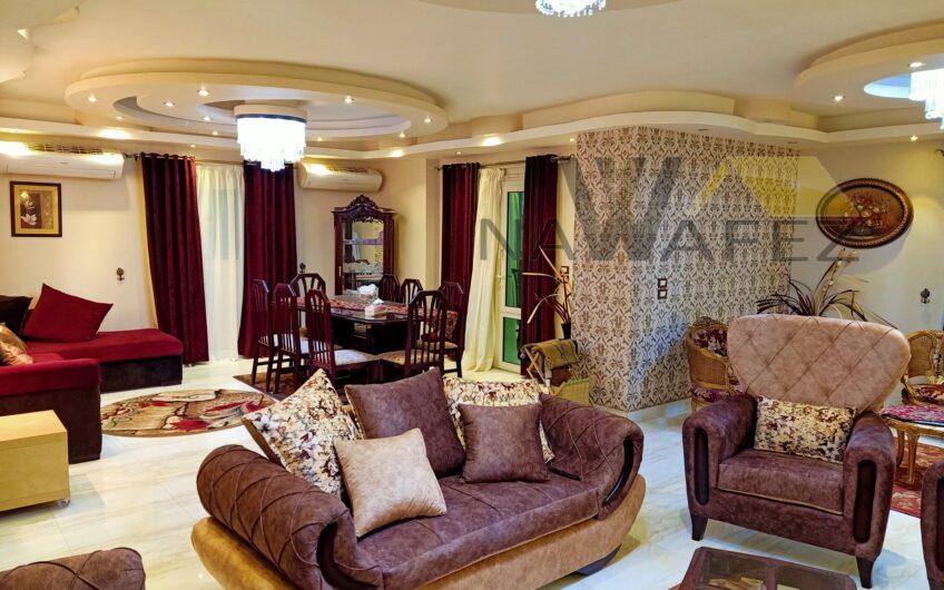 شقة مفروشة للايجار خطوات من عباس العقاد الرئيسى